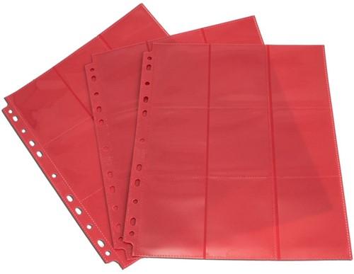 Blackfire 18-Pocket Pages - Red - Side-Loading (50 stuks)