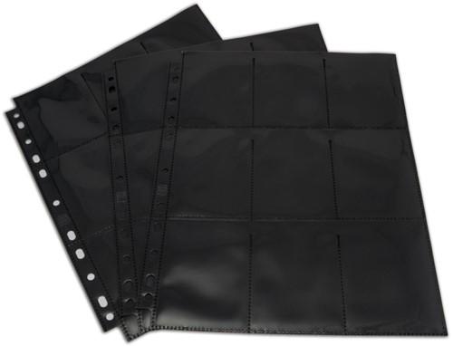 Blackfire 18-Pocket Pages - Black - Top Loading (50 stuks)