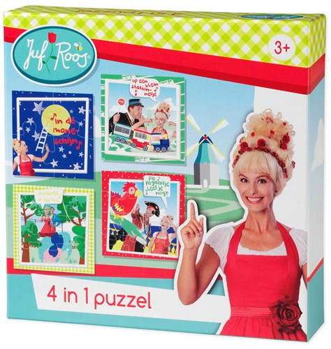 Juf Roos - 4 in 1 Puzzel