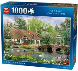April Cottage Puzzel (1000 stukjes)