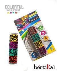 Bertikal Colorful Doolhofpuzzel Cilinder