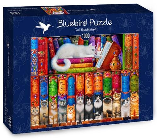 Cat Bookshelf Puzzel (1000 stukjes)