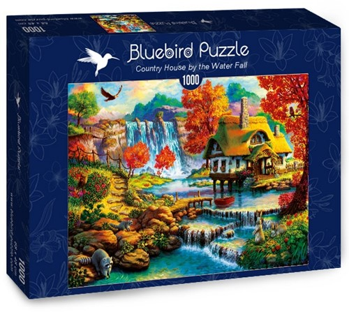 Country House by the Water Fall Puzzel (1000 stukjes)