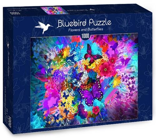 Flowers and Butterflies Puzzel (1000 stukjes)