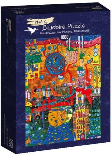 Hundertwasser - The 30 Days Fax Painting Puzzel (1000 stukjes)