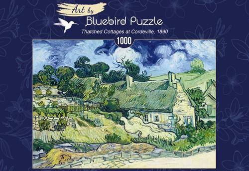 Van Gogh - Thatched Cottages at Cordeville Puzzel (1000 stukjes)