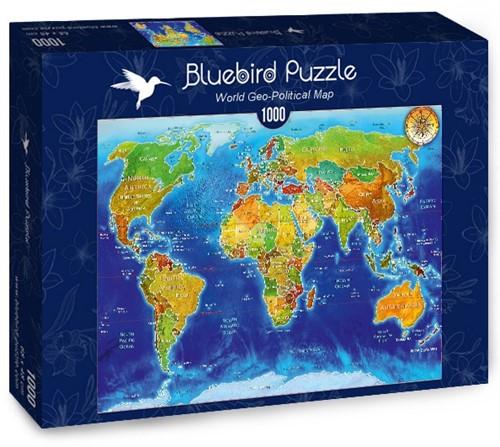 World Geo-Political Map Puzzel (1000 stukjes)