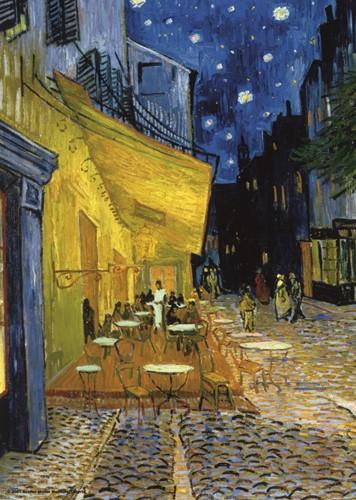 Cafeetje - Vincent van Gogh Puzzel (1000 stukjes)
