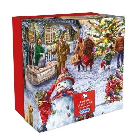 A White Christmas Puzzel - Gift Box (500 stukjes)