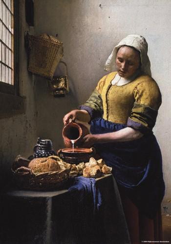 Het Melkmeisje - Johannes Vermeer Puzzel (1000 stukjes)