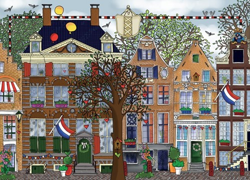 Amsterdam - Parade van Grachtenpanden Puzzel (1000 stukjes)-2
