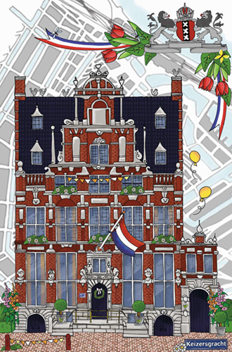 Amsterdam - Keizersgracht 123 Puzzel (500 stukjes)-2