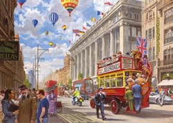 Oxford Street - Then & Now Puzzel (1000 stukjes)