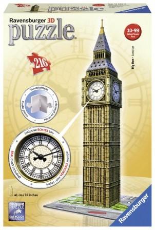 Big Ben met Klok - 3D Puzzel (216 stukjes)
