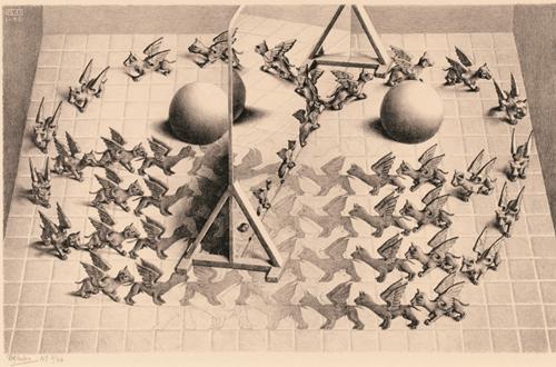 Toverspiegel - M.C. Escher Puzzel (1000 stukjes)