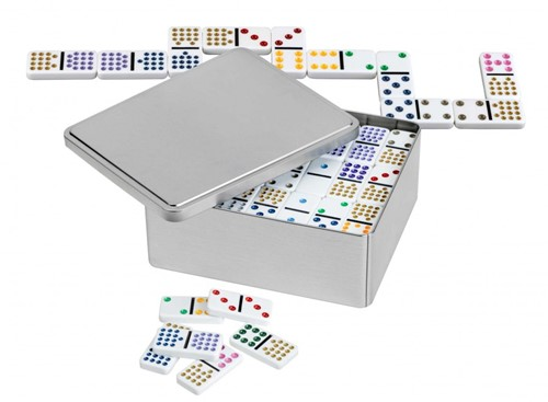 Domino Dubbel 15 in blik (blik gedeukt)