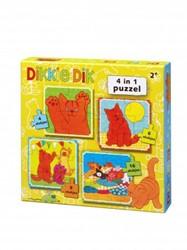 Dikkie Dik - 4 in 1 puzzel