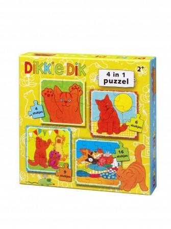 Dikkie Dik - 4 in 1 puzzel-1