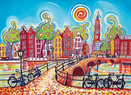 1001 Kleuren - Amsterdam Puzzel (100 stukjes)-2
