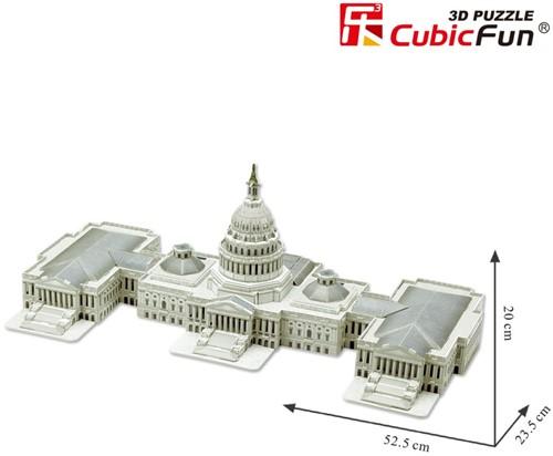 3D Puzzel - U.S. Capitol (132 stukjes)-2