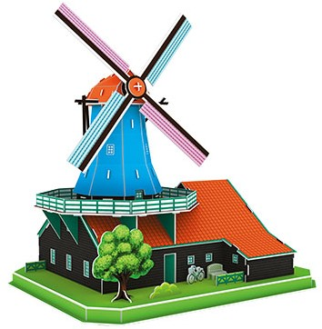 3D Puzzel - Hollandse Windmolen (71 stukjes)