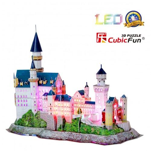 3D Puzzel - Neuschwanstein Castle LED (128 stukjes)-2