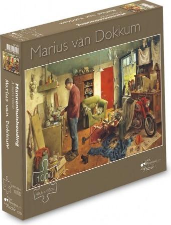 Marius van Dokkum - Mannenhuishouding Puzzel (1000 stukjes)