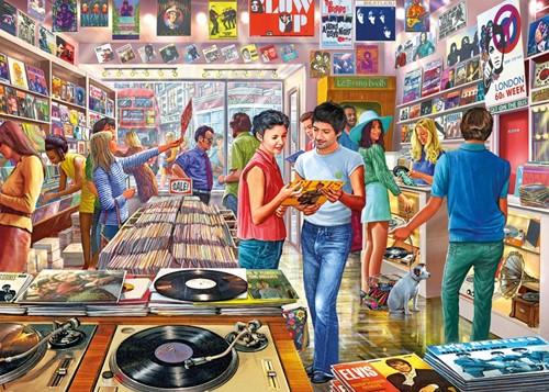 Retro Records Puzzel (1000 stukjes)-2