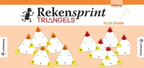 Rekensprint Triangels - Plus en Min