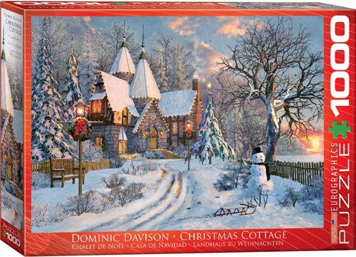 Christmas Cottage - Dominic Davison Puzzel (1000 stukjes)