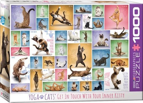 Yoga Cats Puzzel (1000 stukjes)