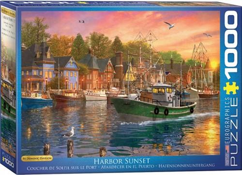 Harbor Sunset - Dominic Davison Puzzel (1000 stukjes)