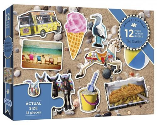 The Seaside - Piecing Together Puzzel (12 stukjes)