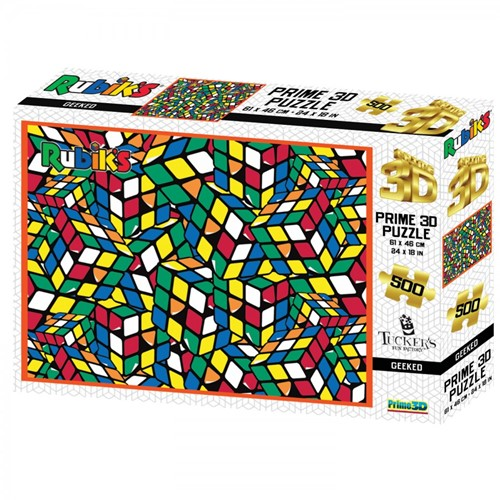 3D Image Puzzel - Rubiks Geeked (500 stukjes)