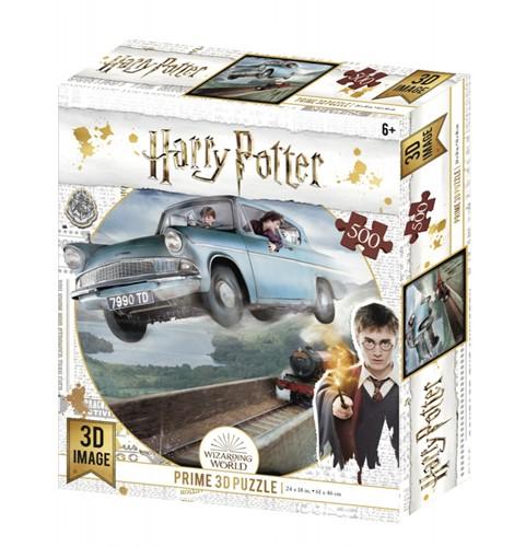 3D Image Puzzel - Harry Potter Ford Anglia (500 stukjes)