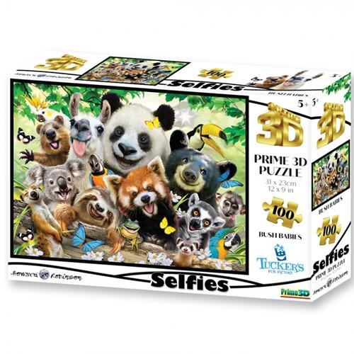 3D Image Puzzel - Bush Babies Selfie (100 stukjes)