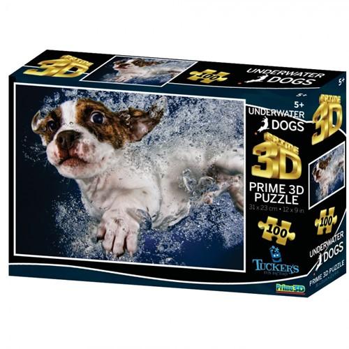 3D Image Puzzel - Underwaterdogs Popcicle (100 stukjes)
