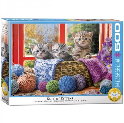 Knittin' Kittens Puzzel (500 XL stukjes)