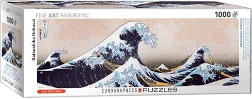 Great Wave of Kanagawa Panorama Puzzel (1000 stukjes)