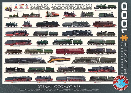 Steam Locomotives Puzzel (1000 stukjes)