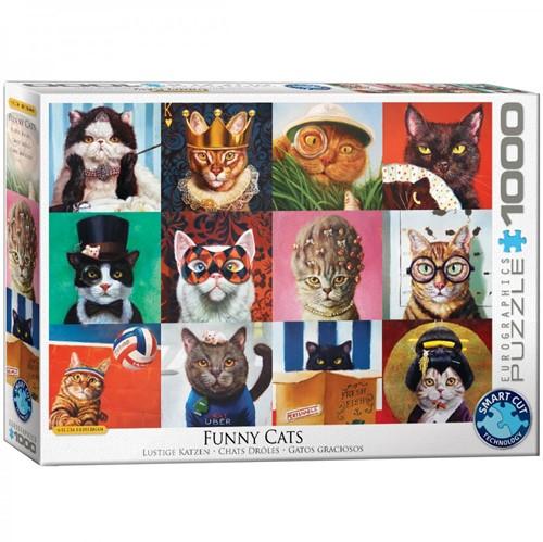 Funny Cats - Lucia Heffernan Puzzel (1000 stukjes)