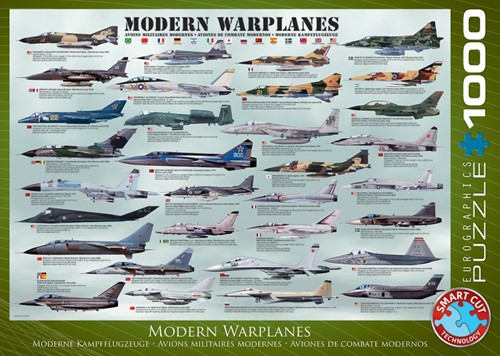 Modern Warplanes Puzzel (1000 stukjes)