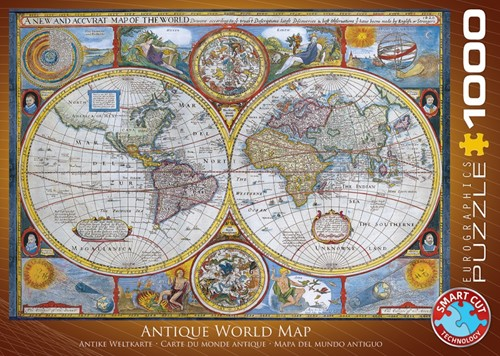 Antique World Map Puzzel (1000 stukjes)