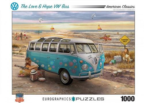 The Love & Hope VW Bus Puzzel (1000 stukjes)