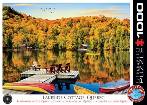 Lakeside Cottage Quebec Puzzel (1000 stukjes)