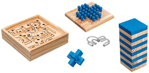 Puzzel & Spellen Verzameling (5 in 1)
