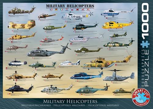 Military Helicopters Puzzel (1000 stukjes)
