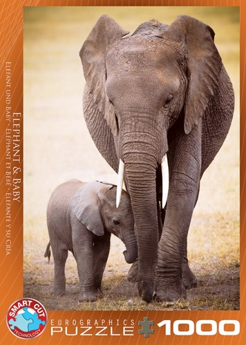 Elephant & Baby Puzzel (1000 stukjes)