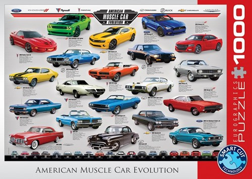 American Muscle Car Evolution Puzzel (1000 stukjes)