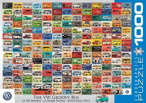 The VW Groovy Bus Puzzel (1000 stukjes)